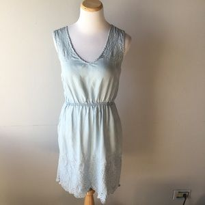 Anthropologie Holding Horses Chambray Dress